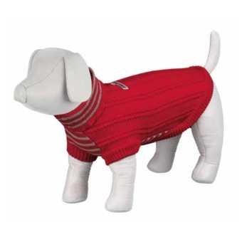Stickad Hundtröja - Ribbstickad pullover från Trixie