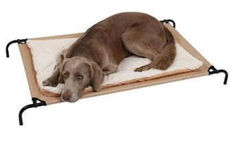 Kerbl - Upphöjd hundsäng på ben med svart stålram