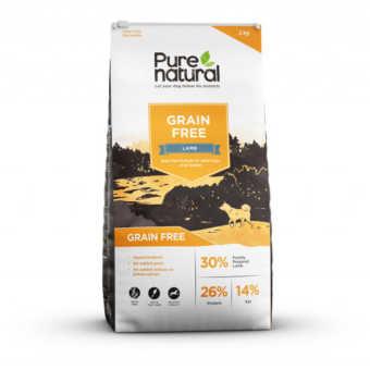 Spannmålsfritt torrfoder-Pure Natural med lammsmak